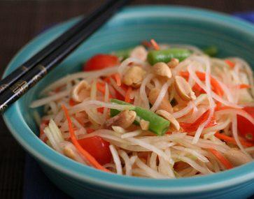 Green Papaya Noodle Salad