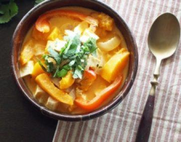 Pumpkin, Pork and Noodle Curry