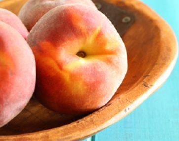 Brioche with Caramel Peaches and Icecream