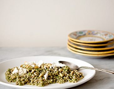 Fregola & Heirloom Carrot Salad
