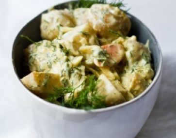 Kipfler Salad with Creme Frache and Dill