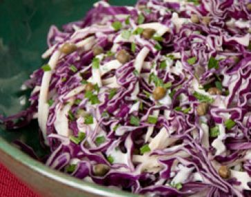 Tri Colour Cabbage Salad