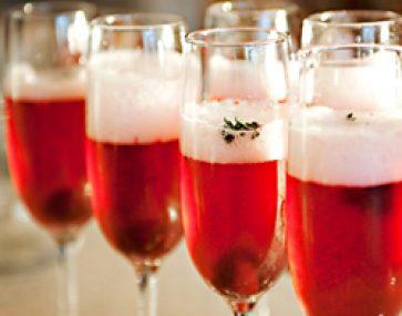 Champagne Cherry Christmas Cheer